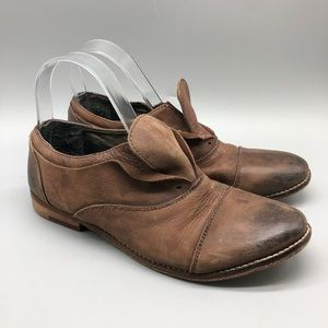 Free People rogue darby brown leather oxfords